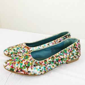 Bakers Multicolored Sequin Flats